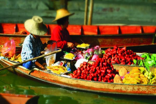 Floating markets, Asia holidays