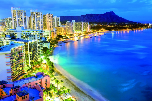 Hawaii at night