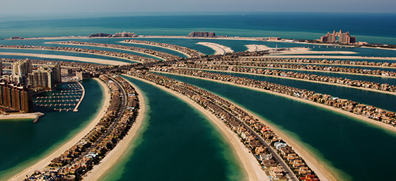 The Palm Islands – just one of Dubai's many wonders