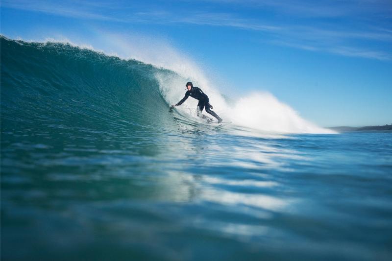 Surfer in Dunedin