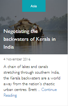 Negotiating the backwaters of Kerala in India