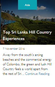 Top Sri Lanka Hill Country Experiences