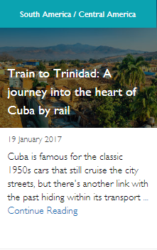Train to Trinidad: A journey into the heart of Cuba by rail