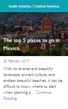 The top 5 places to go in Mexico