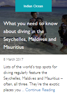 What you need to know about diving in the Seychelles, Maldives and Mauritius