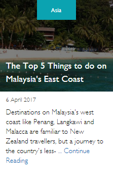 The Top 5 Things to do on Malaysia's East Coast