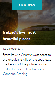 Ireland's five most beautiful places