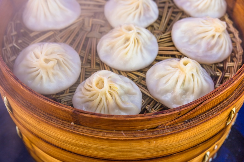 Xiao long bao dumplings are a specialty at Din Tai Fung.