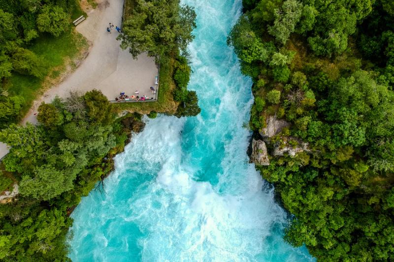 Aerial view of Huka Falls