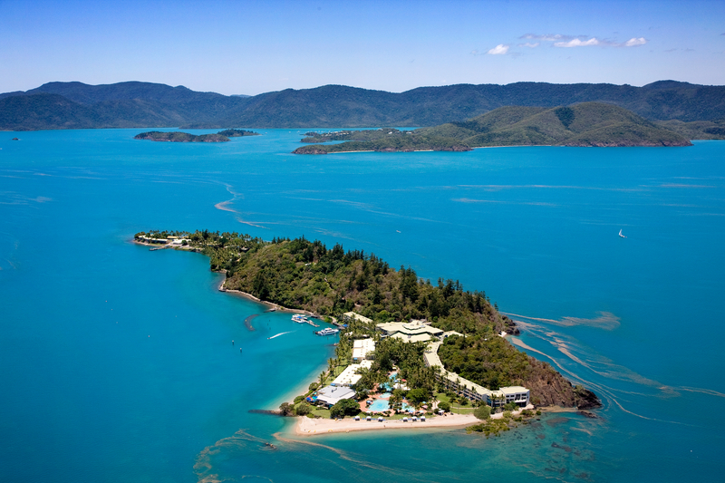 Aerial view of Daydream Island, Queensland