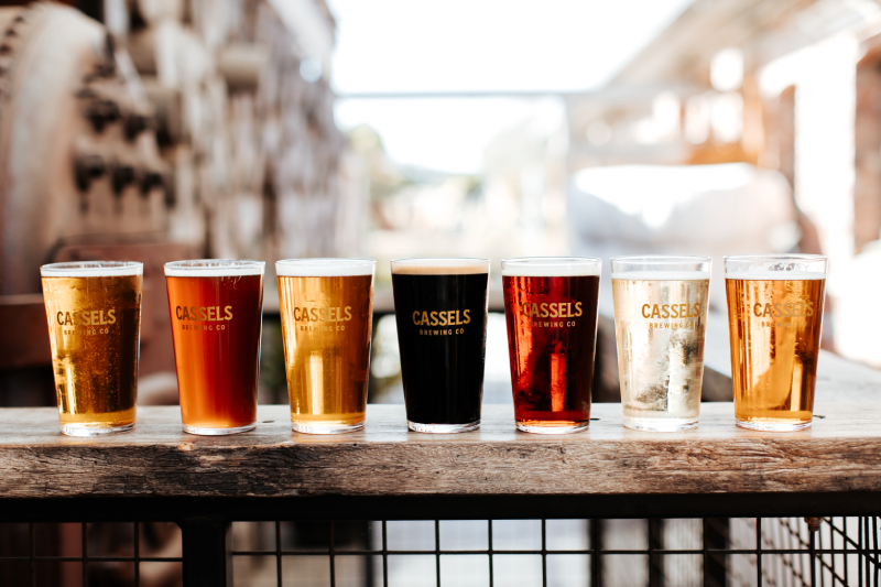 Beers from Cassels Brewing Co