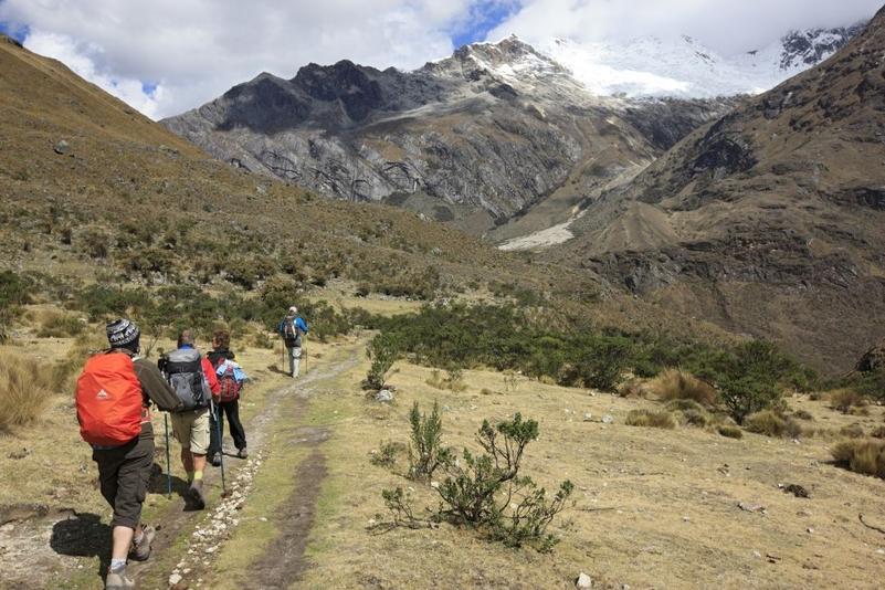 Trekking through the Peruvian wilderness