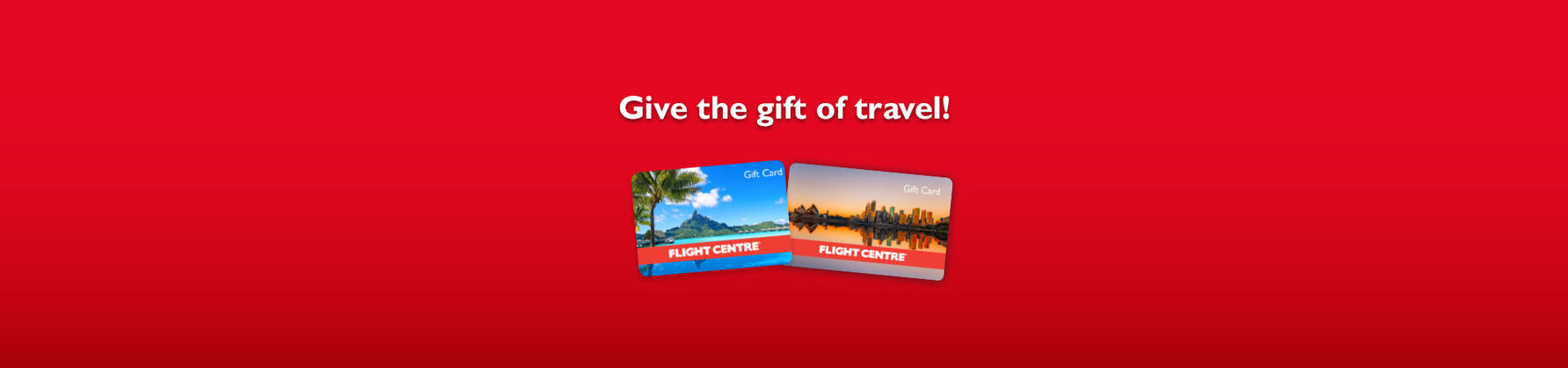 Flight Centre Gift Cards | Flight Centre NZ