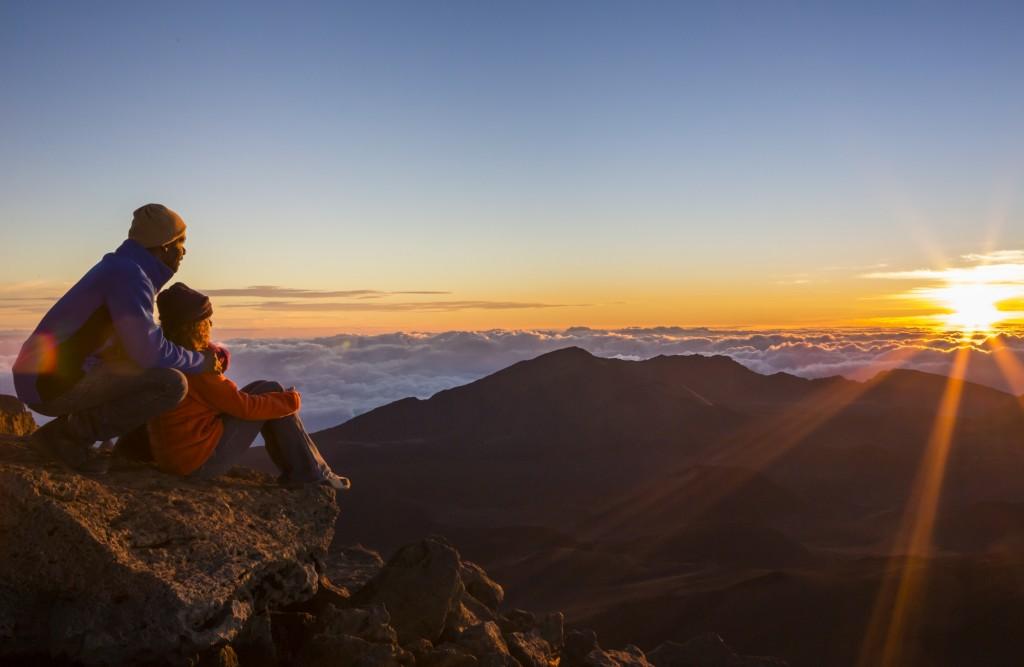 Mt Haleakala at sunrise