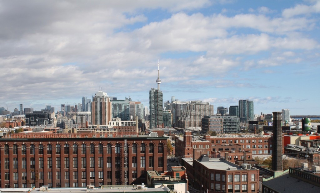 Toronto's skyline is best captured on a clear, sunny day. Credit: Chloe Milne.
