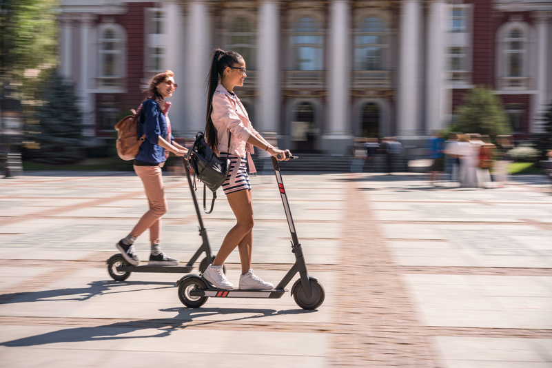 Explore cities by e-scooter