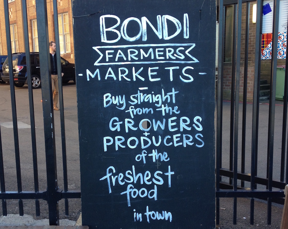 Bondi Farmers Market (photo: Delaney Mes)