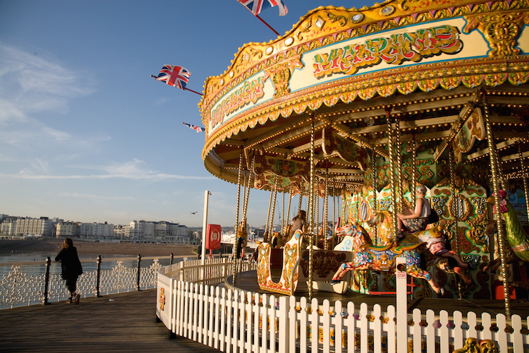 The carousel at the end of Brighton Pier. Credit: Visit England/Andrew Marshall.