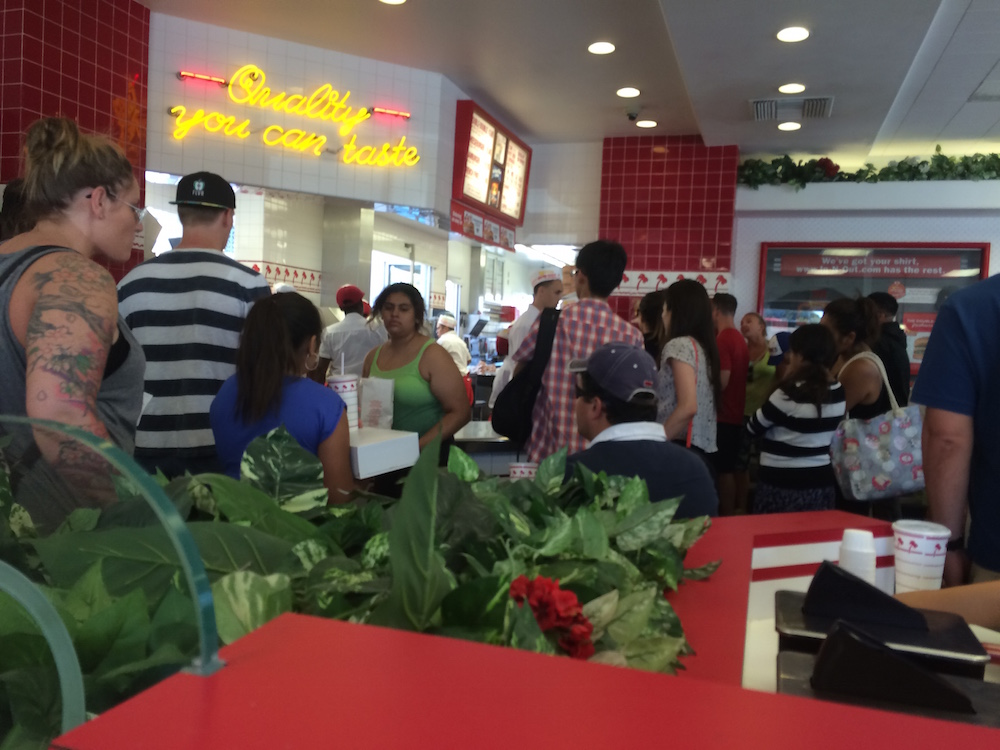 In-N-Out Burger at LAX. Photo: Greg Bruce.