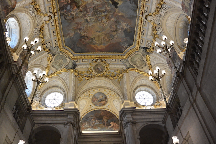 Inside the Royal Palace of Madrid. Credit: Don Rowe.