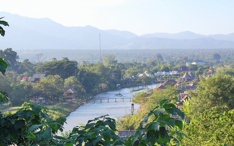 Arriving in Pai. Credit: Anna King-Shahab.