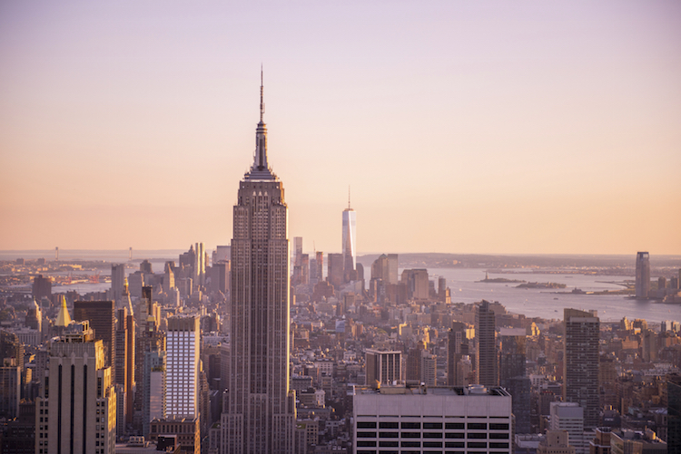 The Empire State Building from the Top of the Rock. Credit: iStock.com/sarahgerrity