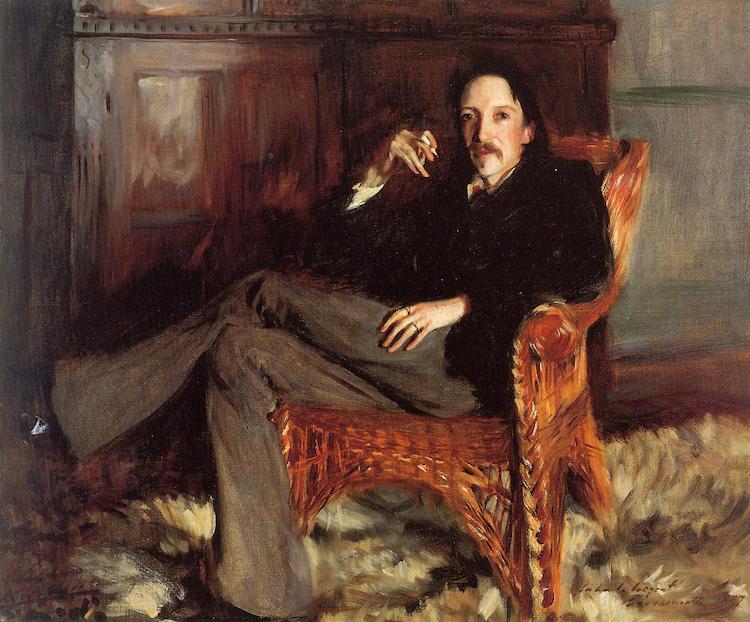 Robert Louis Stevenson by John Singer Sargent, 1887.