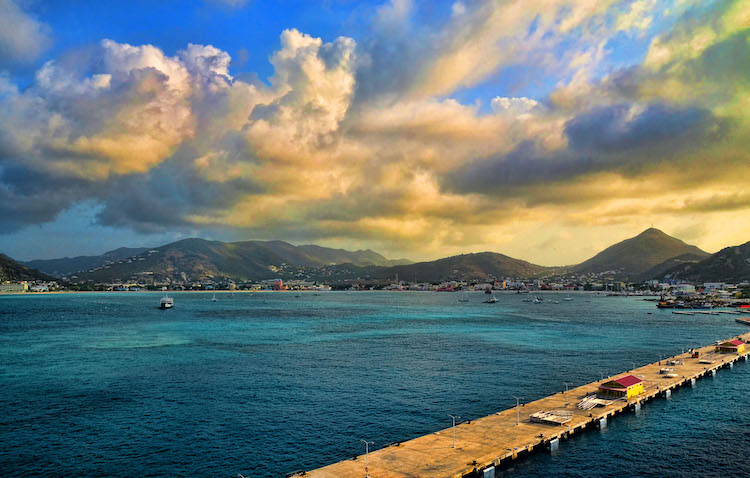 Harbour and dock at Philipsburg, St Maarten. Credit: Trish Hartmann/Flickr.com.