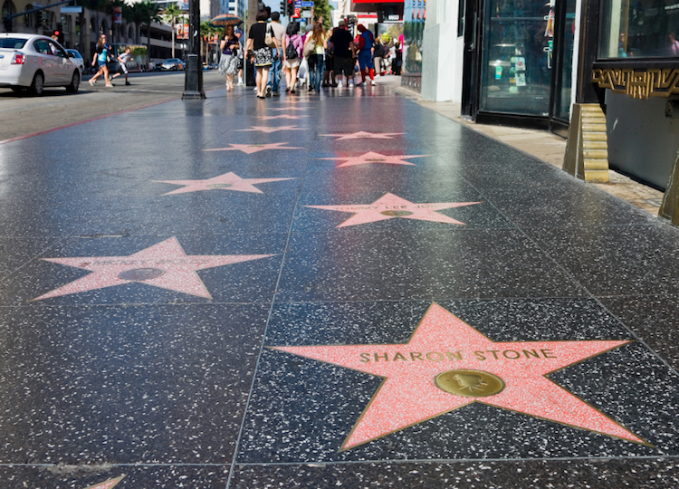 The Hollywood Walk of Fame, Los Angeles. Credit: iStock.com.