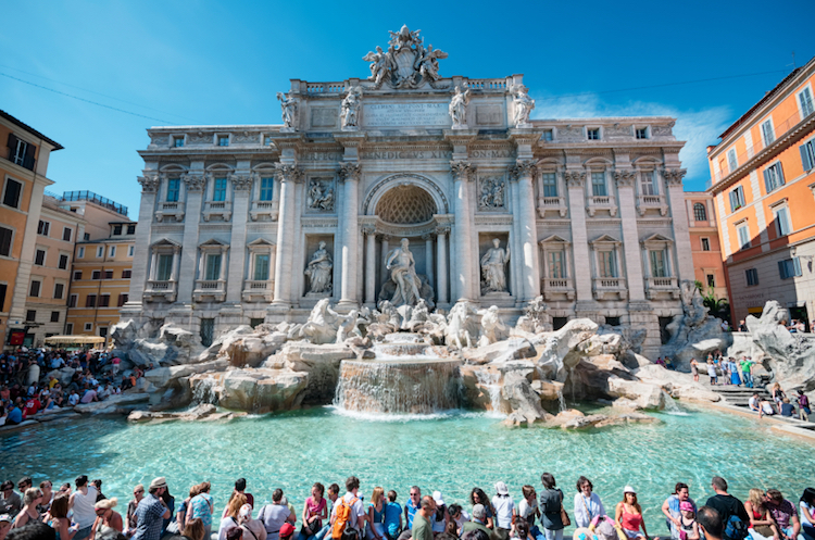 The Trevi Fountain. Credit: iStock.com.