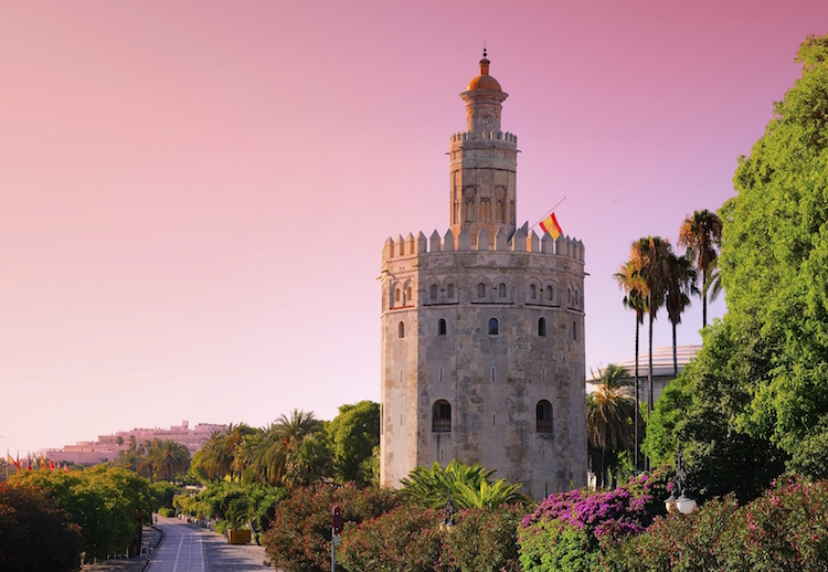The Torre del Oro, or Tower of Gold, Seville. Credit: iStock.com