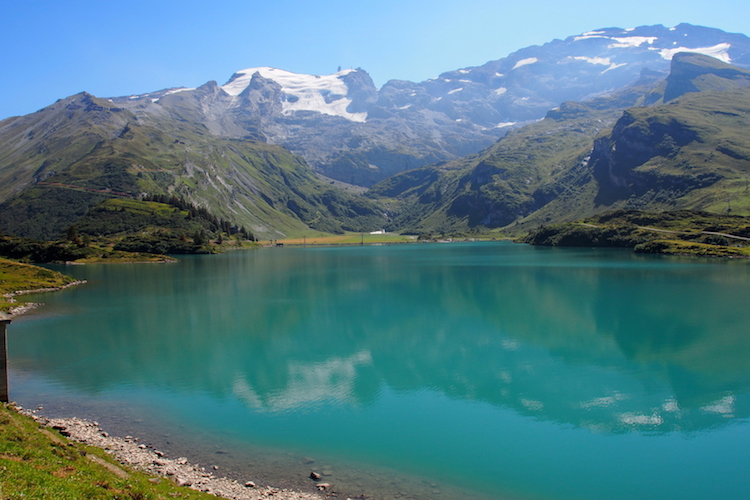 Lake  Trübsee at the base of Mt Titlis. Credit: Alexia Santamaria.