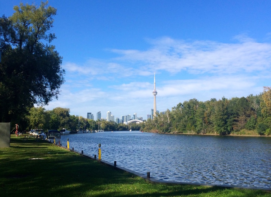The city seen from Hanlan's Point in the Toronto Islands. Credit: Chloe Milne.