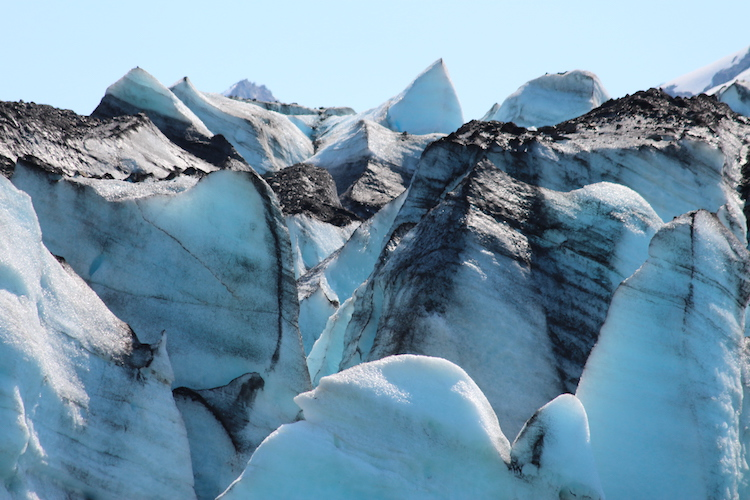 Spectacular glacier ice. Photo: Carol Atkinson.