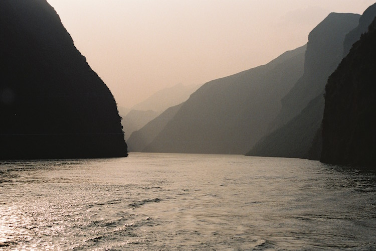 The Yangtze River at sunset. Credit: Carol Atkinson.