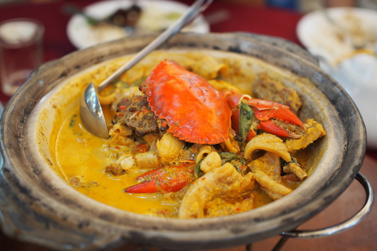 Crab curry, Kuala Lumpur. Credit: Alexia Santamaria