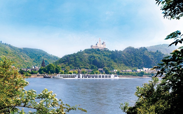 The SS Antoinette passes yet another Rhine castle. Credit: uniworld.com.