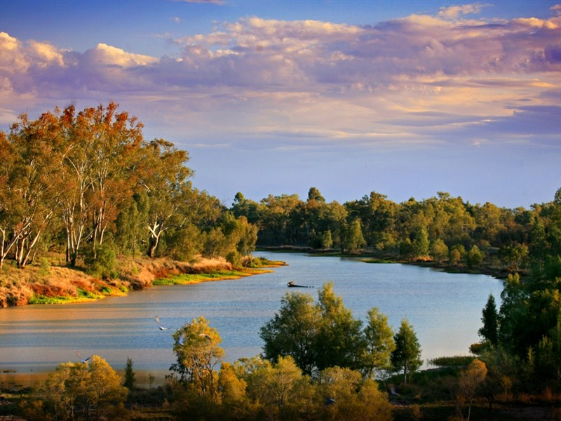 The Balonne River near St George, Queensland. Credit: queensland.com