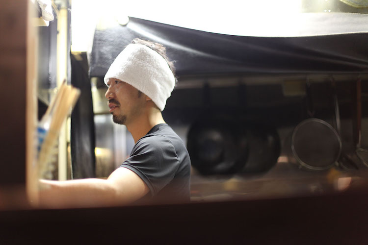 Chef Kemma Hoshi at Yakimen Tsuguri, Tokyo. Credit: Tim Lambourne.
