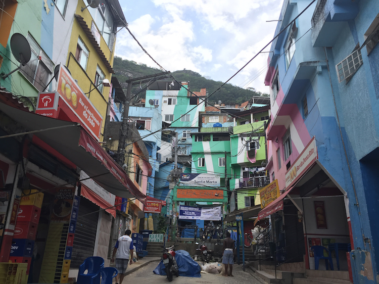 The Santa Marta favela. Photo: Laura McQuillan.