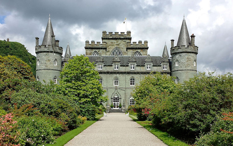Inverary Castle. Credit: WikiCommons.