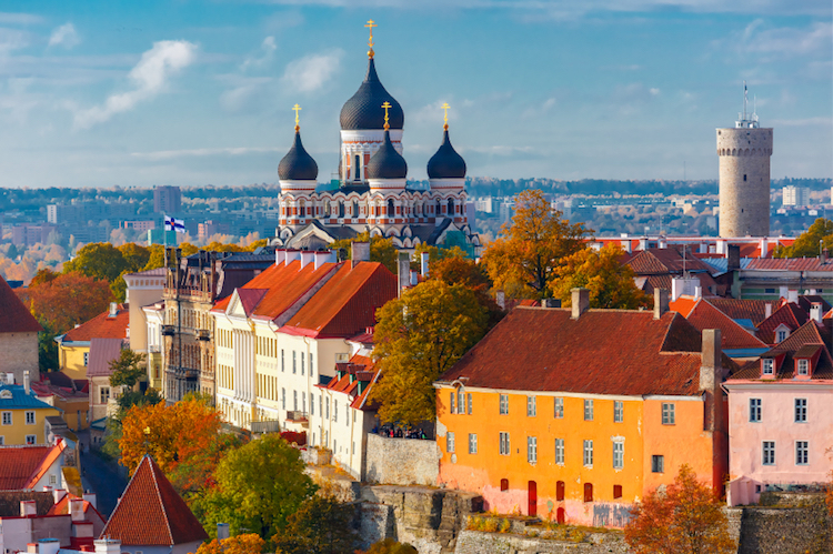 Aerial view of the Old Town, Tallinn. Credit: iStock.com