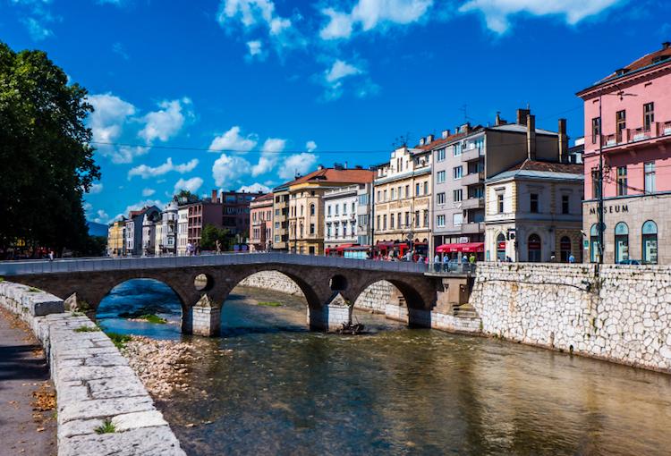 The Miljacka River, Sarajevo. Credit: iStock.com