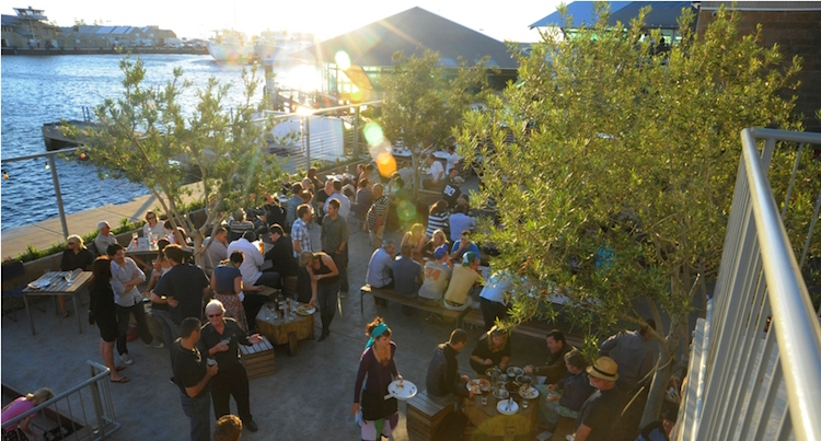 The backyard at Little Creatures Brewery. Credit: visitfremantle.com.au