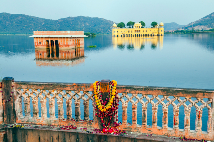 The Water Palace (Jal Mahal) in Man Sagar Lake, Jaipur. Credit: iStock.com