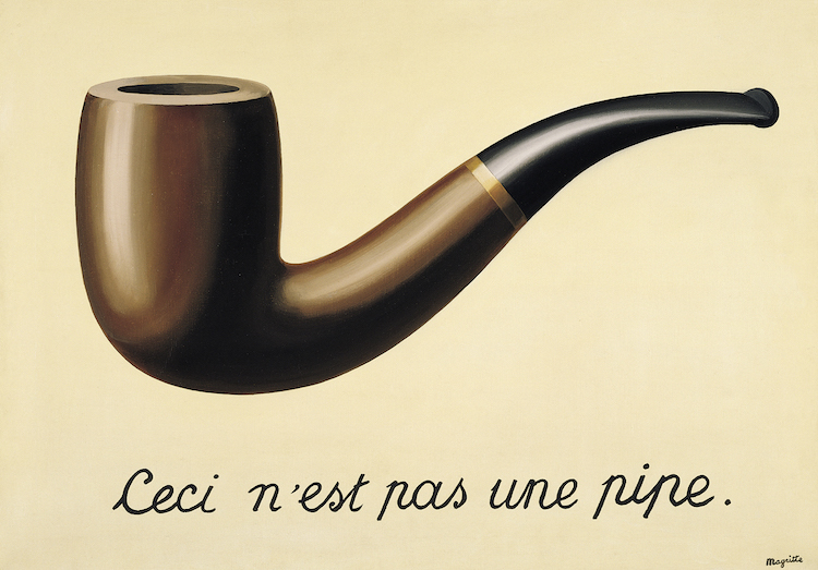 The Treachery of Images by René Magritte,  Los Angeles County Museum of Art. Credit: lacma.org