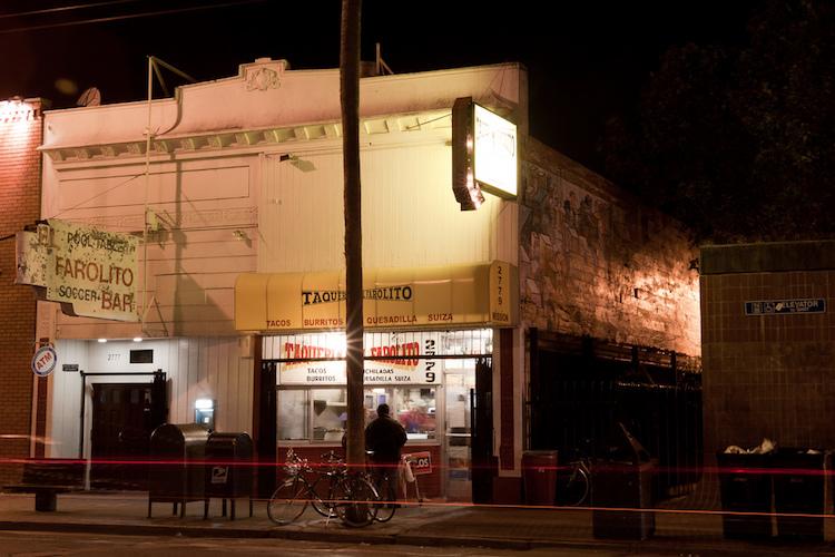 Taqueria El Farolito, Mission District, San Francisco. Credit: Nick Fisher/flickr.com.