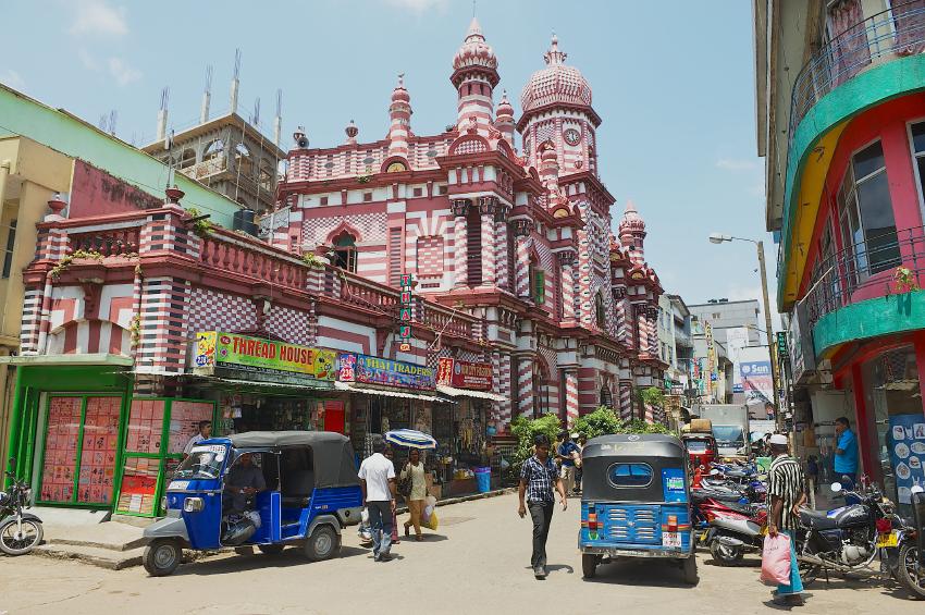 A downtown street in Colombo, Sri Lanka