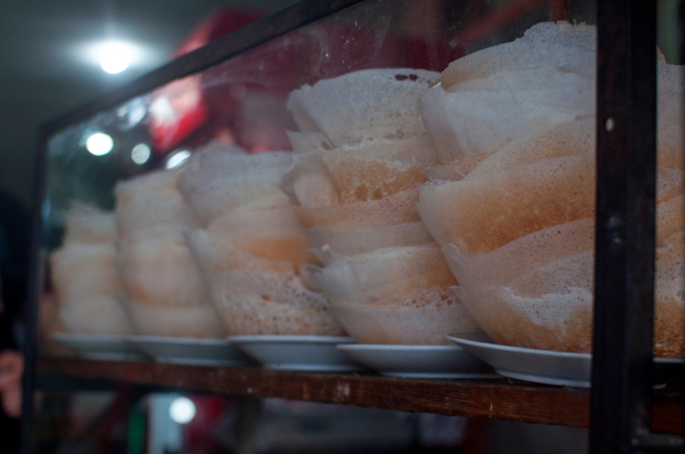 Hoppers stacked at a Sri Lankan stall. Credit: iStock.com