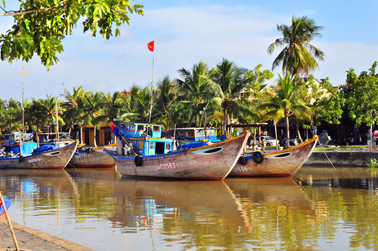 Boats on the Thu Bon River, Hoi An. Credit: iStock.com